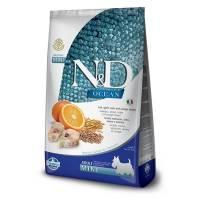 Farmina N&D Ocean сухой корм для взрослых собак мелких пород с треской, овсом, спельтой и апельсином - 800 г