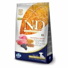 Farmina N&D сухой корм для щенков мелких пород низкозерновой с ягненком и черникой - 2,5 кг (7 кг)