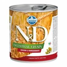 Влажный корм Farmina N&D низкозерновой для взрослых собак с курицей и гранатом - 285г х 6шт
