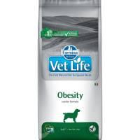 Farmina Vet Life Dog Obesity ветеринарный диетический сухой корм для взрослых собак с избыточным весом и заболеванием сахарного диабета - 2 кг (12 кг)