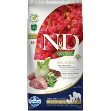 Farmina N&D Dog Grain Free quinoa digestion lamb корм для собак улучшающий пищеварение с ягненком и киноа 2,5 кг ( 7 кг )