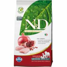 Farmina N&D Grain-Free Canine Chicken & Pomegranate Adult сухой корм с курицей и гранатом для взрослых собак - 2,5 кг (12 кг)