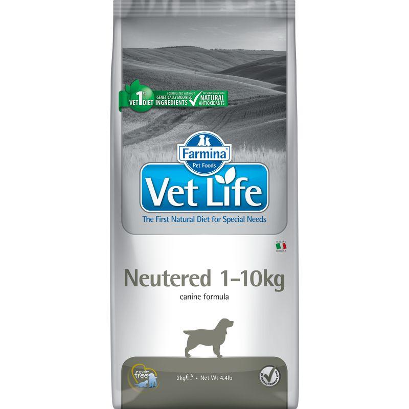Farmina Vet Life Dog Neutered 1-10kg ветеринарный диетический сухой корм для взрослых стерилизованных или кастрированных собак 1-10 кг весом - 2 кг (10 кг)