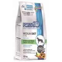 Forza10 Medium Diet для взрослых собак средних пород при аллергии из оленины с картофелем с микрокапсулами 1,5 кг (12 кг)