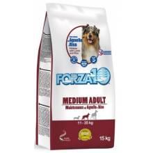 Forza10 Maintenance для взрослых собак средних пород из мяса ягненка и рисом 15 кг