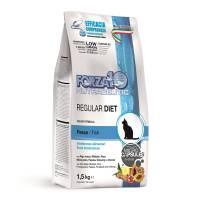 Forza10 Regular Diet сухой корм для взрослых кошек при аллергии и повышенной чувствительности к животным белкам с рыбой 400 гр (1,5 кг)