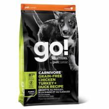 GO! Carnivore GF Chicken,Turkey + Duck Puppy Сухой беззерновой корм для щенков всех пород 4 вида мяса: индейка, курица, лосось, утка 1,59 кг (5,45 кг) (10 кг)
