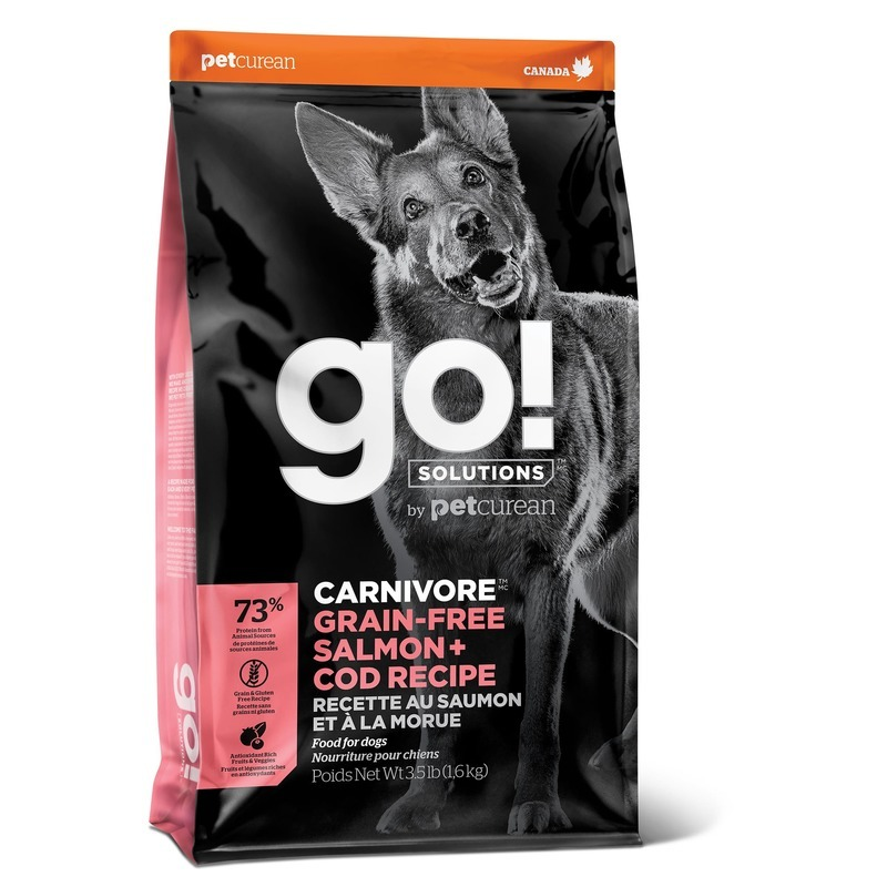 GO! Carnivore GF Salmon + Cod - беззерновой корм для собак всех возрастов c лососем и треской 1,59 кг (5,45 кг),  (10 кг)