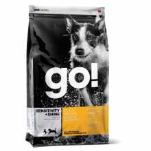 GO! Sensitivity + Shine сухой беззерновой корм для щенков и собак с чувствительным пищеварением с уткой и овсянкой 2,72 кг (5,45 кг) (11,35 кг)