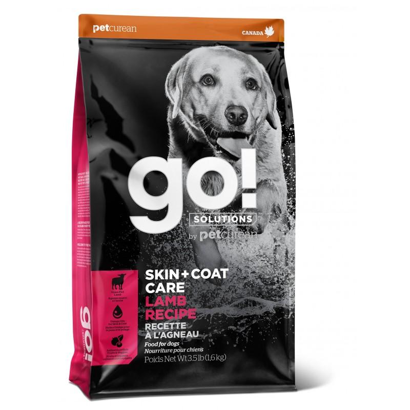 GO! Skin + Coat Lamb Meal cухой корм для щенков и собак со свежим ягненком 1,59 кг (5,45 кг) (11,3 кг)