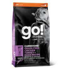 GO! Carnivore GF Chicken,Turkey + Duck Senior Сухой беззерновой корм для пожилых собак всех пород 4 вида мяса: индейка, курица, лосось, утка 1,59 кг (5,45 кг) (10 кг)