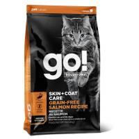 GO! Skin + Coat GF Salmon сухой беззерновой корм для котят и кошек с лососем 1,36 кг (3,63 кг) (7,26 кг)