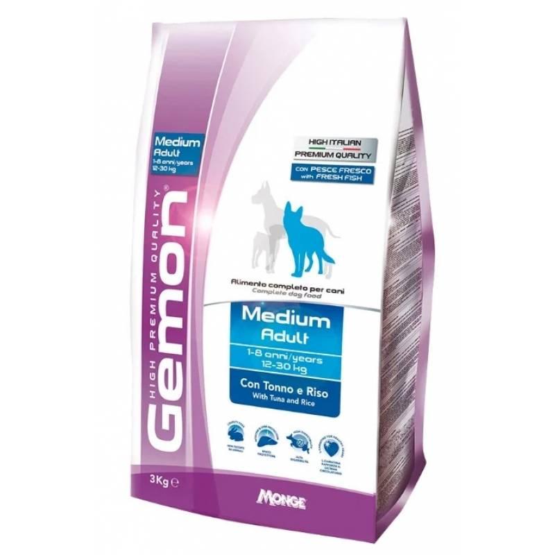 Gemon Medium Adult Tuna and Rice сухой корм для собак средних пород с тунцом и рисом 3 кг (15 кг)