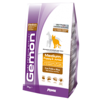 Gemon Medium Puppy & Junior Chicken and Rice сухой корм для щенков средних пород (курица и рис) 3 кг (15 кг)