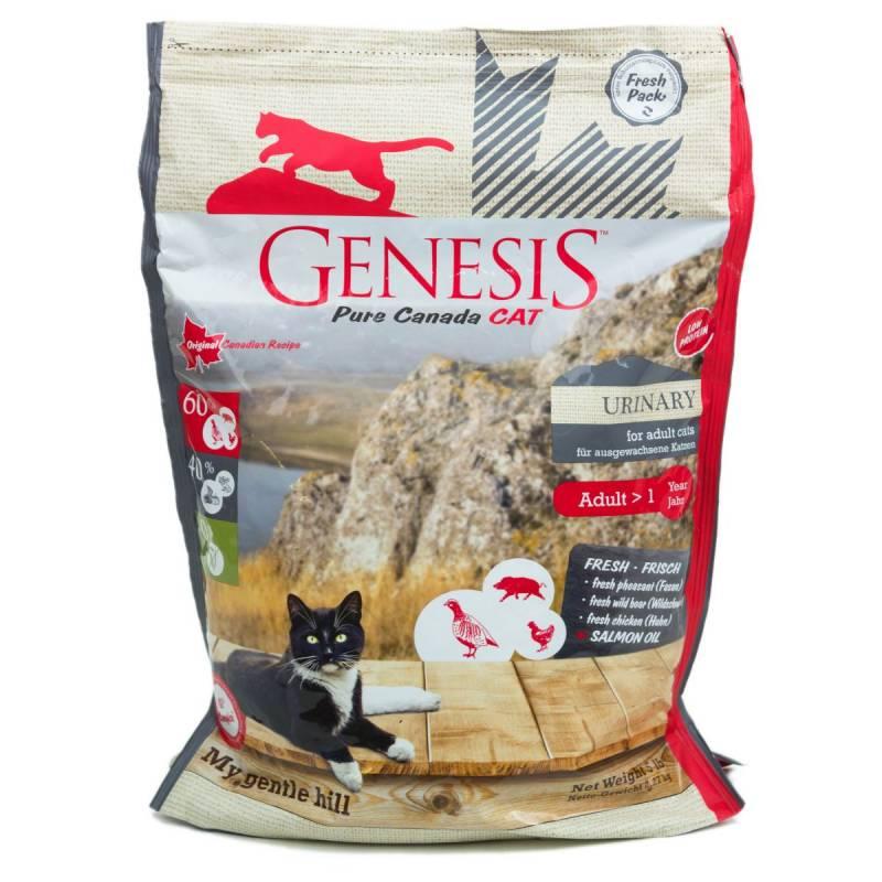 Genesis Pure Canada My Gentle Hill Urinary сухой корм для взрослых кошек, склонных к проблемам мочеполовой системы с кабаном, фазаном и курицей 340 гр 2,268 кг