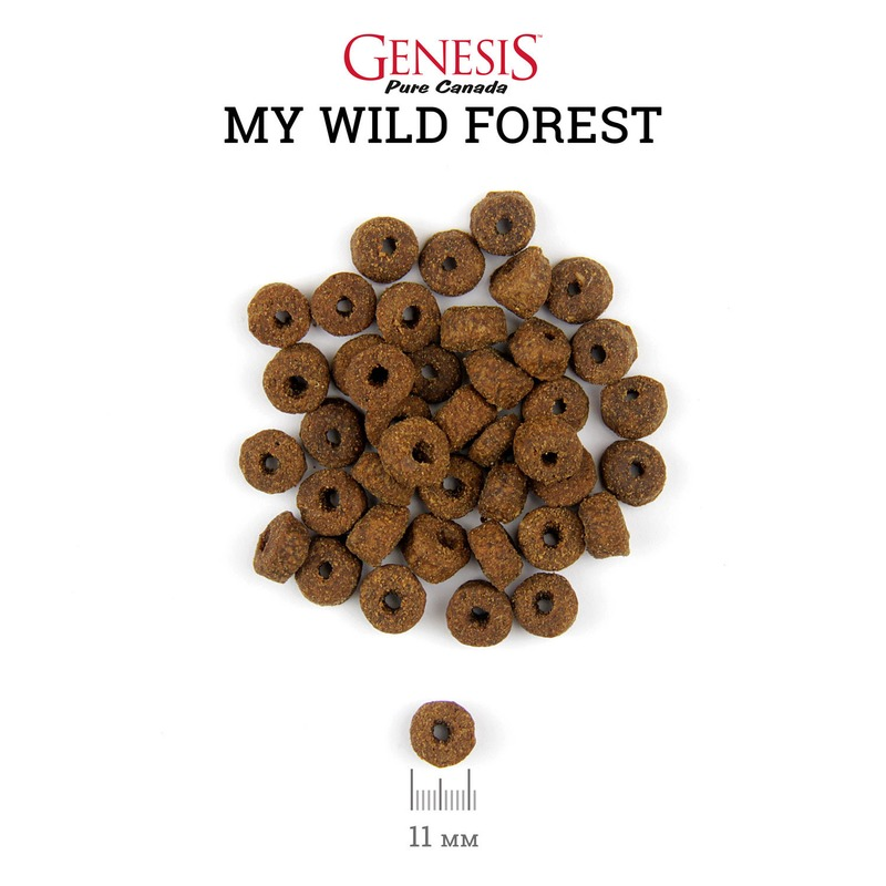 Genesis Pure Canada My Wild Forest Adult для взрослых кошек с уткой, перепелкой и курицей 340 гр (2,268 кг)