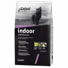 Golosi Cat Adult Indoor Sterilised сухой корм для стерилизованных кошек с курицей и лососем - 400 г (1,5 кг) (7,5 кг) (20 кг)