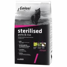 Golosi Cat Adult Sterilised сухой корм для стерилизованных кошек с курицей и рисом - 400 г (1,5 кг) (20 кг)