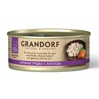 Grandorf Сhicken With Salmon In Broth влажный корм для кошек, куриная грудка с лососем - 70 г х 6 шт
