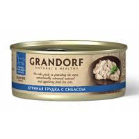 Grandorf Chicken With Seabass In Broth влажный корм для кошек, куриная грудка с сибасом - 70 г х 6 шт