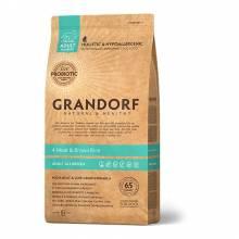 Grandorf 4meat & Brown Rice Adult All Breeds сухой корм для собак всех пород, четыре вида мяса с бурым рисом - 1 кг (3 кг) (12 кг)