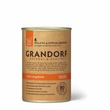 Grandorf Goose With Quail влажный корм для собак всех пород, гусь с индейкой - 400 г