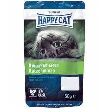 Лакомство Happy Cat подушечки для стимуляции двигательной активности и снятия стресса с кошачьей мятой - 50 г