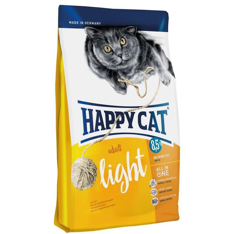 Happy Cat Fit&Well Adult Light сухой корм для кошек с избыточным весом с домашней птицей и лососем 1,4 кг (4 кг) (10 кг)