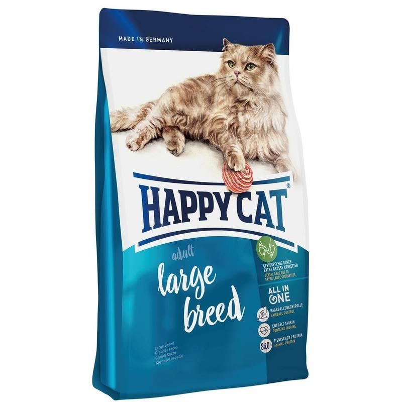 Happy Cat Adult Large Breed - сухой корм для крупных кошек 1,4 кг (4 кг) (10 кг)