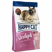 Happy Cat Adult Sterilised Voralpen Rind для стерилизованных кошек с говядиной 1,4 кг (4 кг) (10 кг)