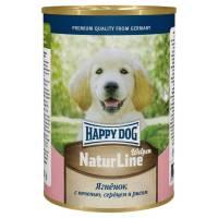 Влажный корм Happy Dog для щенков с ягненком, печенью и сердцем - 410 г х 20 шт
