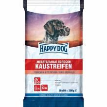 Лакомство Happy Dog Жевательные полоски с говядиной и телятиной для взрослых собак всех пород - 200 г