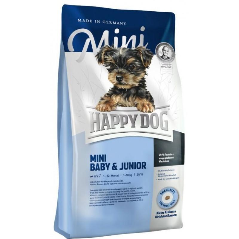 Happy Dog Supreme Young Mini Baby & Junior сухой корм для щенков и молодых собак 1 кг (4 кг)