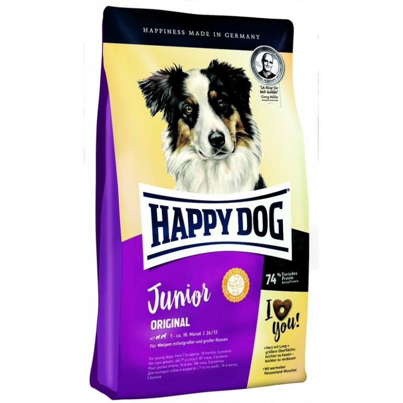 Happy Dog Junior Original для щенков от 7 до 18 месяцев 1 кг (4 кг)  (10 кг)