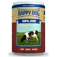 Влажный корм Happy Dog 100% Rind для собак при аллергии и проблемах с пищеварением с говядиной - 400 г х 6 шт