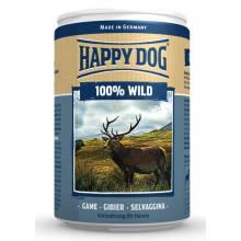 Влажный корм Happy Dog 100% Wild для собак при аллергии и проблемах с пищеварением с дичью - 400 г х 6 шт