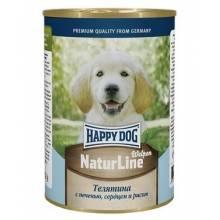Влажный корм Happy Dog для щенков с телятиной, печенью и сердцем - 410 г х 20 шт