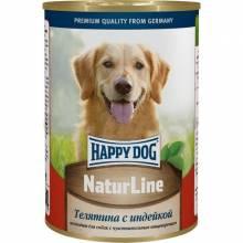 Влажный корм Happy Dog для собак с телятиной и индейкой - 410 г х 20 шт