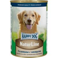 Влажный корм Happy Dog Телятина Овощи для собак возрастом от одного года - 410 гр х 20 шт