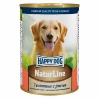 Влажный корм Happy Dog для собак с телятиной и рисом - 410 г х 20 шт