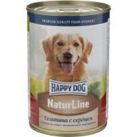 Влажный корм Happy Dog для собак с телятиной и сердцем - 410 г х 20 шт