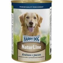 Влажный корм Happy Dog для взрослых и пожилых собак с ягненком и рисом - 410 г х 20 шт
