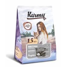 Karmy British Shorthair Kitten с индейкой - полнорационный сухой корм для котят породы британская короткошерстная в возрасте до 1 года 400 гр (1,5 кг) (10 кг)