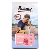Karmy Delicious Mini сухой корм для привередливых собак мелких пород старше 1 года, с телятиной 15 кг