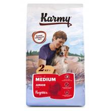 Karmy Medium Junior сухой корм для щенков средних пород с индейкой  (2 кг) (15 кг)