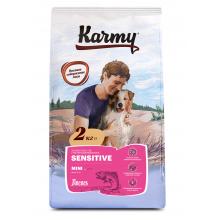Karmy Mini Sensetive сухой корм для взрослых собак мелких пород с чувствительным пищеварением с лососем 2 кг (15 кг)