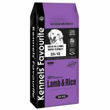Kennels` Favourite Lamb and Rice корм для взрослых собак предрасположенных к аллергии c ягненком и рисом - 3 кг (12,5 кг) (20 кг)