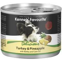 Влажный корм Kennels` Favourite Turkey & Pineapple для взрослых собак всех пород с индейкой и ананасом - 200 гр х 6 шт
