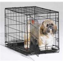MIDWEST ICRATE клетка 61Х38Х48 см черная для транспортировки собак средних и малых пород - 1 дверь