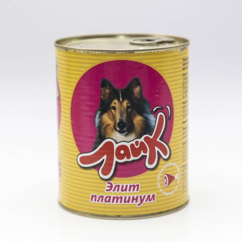 """Мясные консервы для собак ЛАЙК """"Элит платинум"""" для взрослых собак всех пород - 850 гр. х 8 шт."""